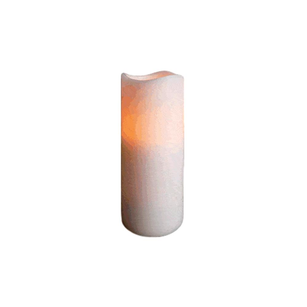 Flameless Flickering Remote Control LED Wax Pillar Candle 7 Inch All Products