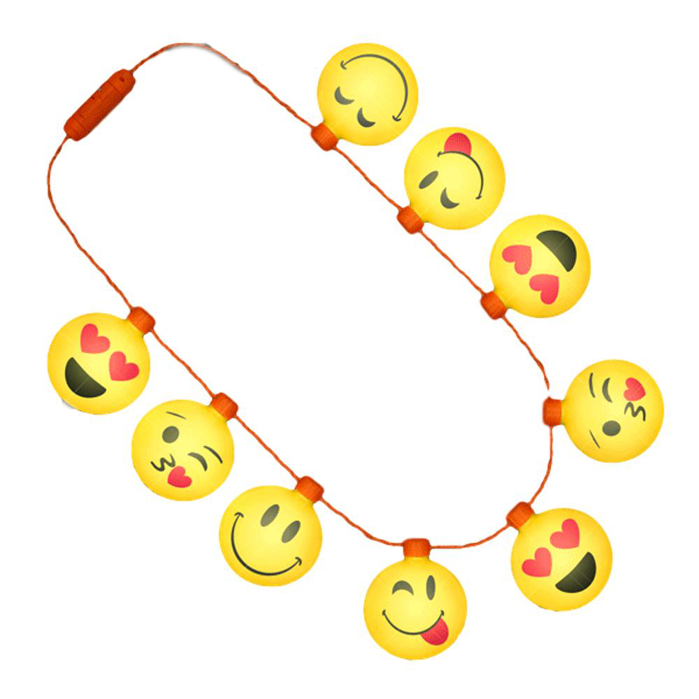 LED Emoji Faces String Lights Necklace All Products