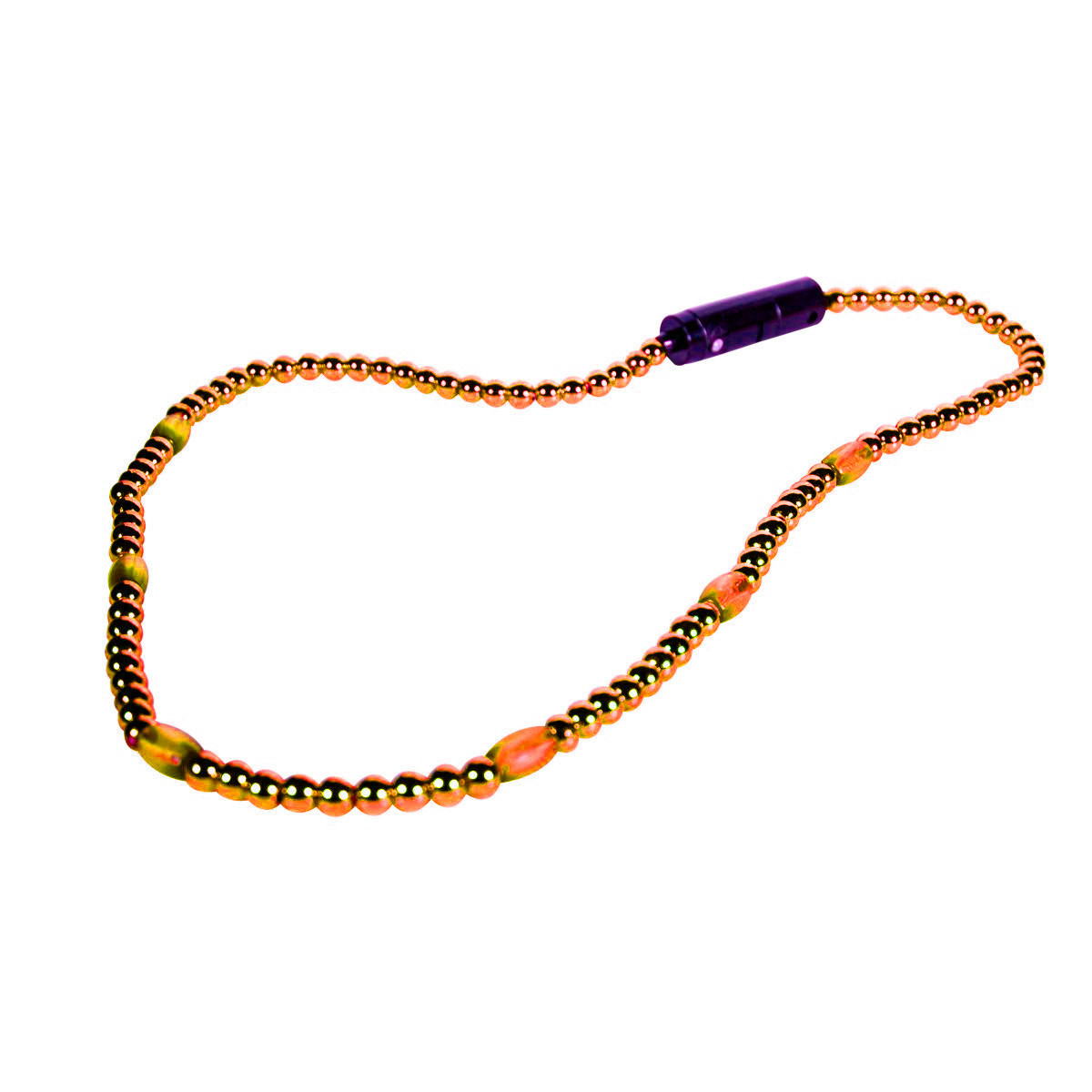 LED Necklace with Orange Beads All Products