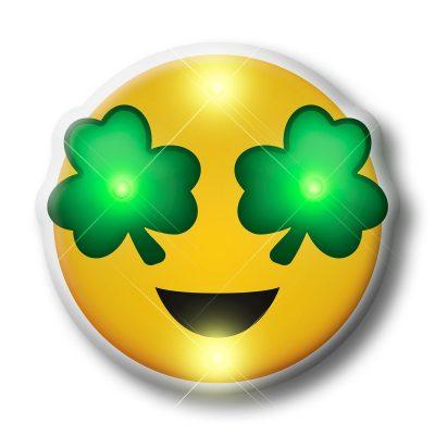 St Patrick's Day Irish Shamrock Eyes Emoji Flashing Body Light Lapel Pins All Body Lights and Blinkees