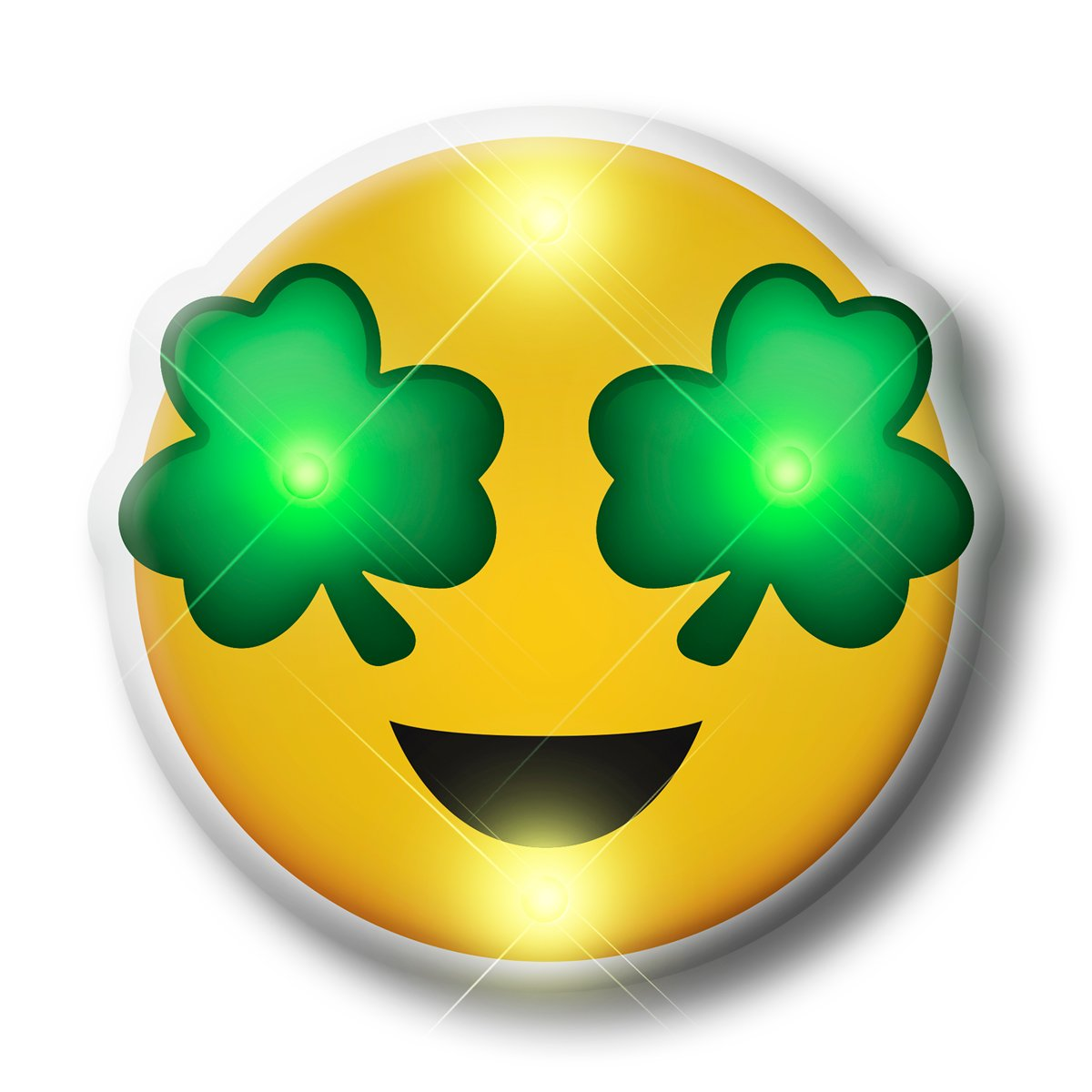 St Patrick S Day Irish Shamrock Eyes Emoji Flashing Body