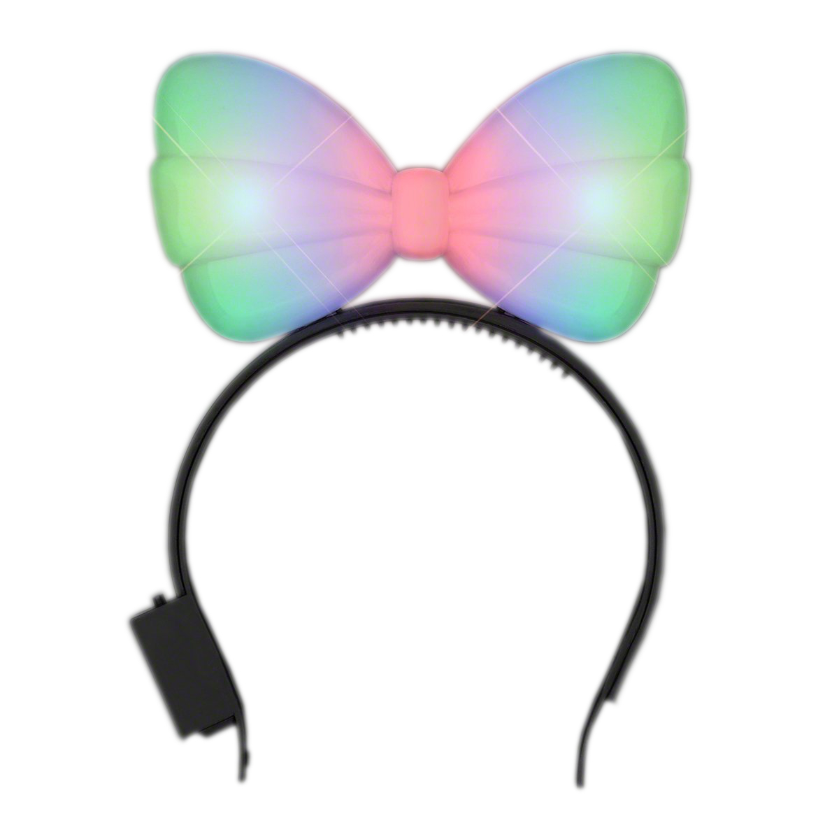 Light Up Hard Shell Bow Headband Multicolor All Products