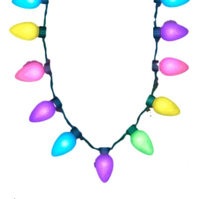Huge Old School Spring Pastel Light Bulb Necklace All Products