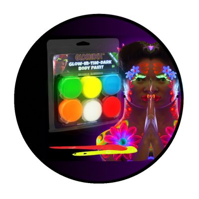 Glow In The Dark Body Paint Set of 6 All Products
