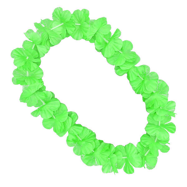 Hawaiian Flower Lei Necklace Green All Products