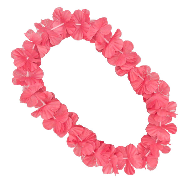 Hawaiian Flower Lei Necklace Pink All Products