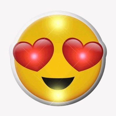 Heart Eyes Emoji Flashing Body Light Lapel Pins All Body Lights and Blinkees