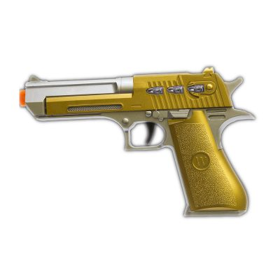 LED Red Pistol Gold Plated Toy Gun Light Up Toy Guns
