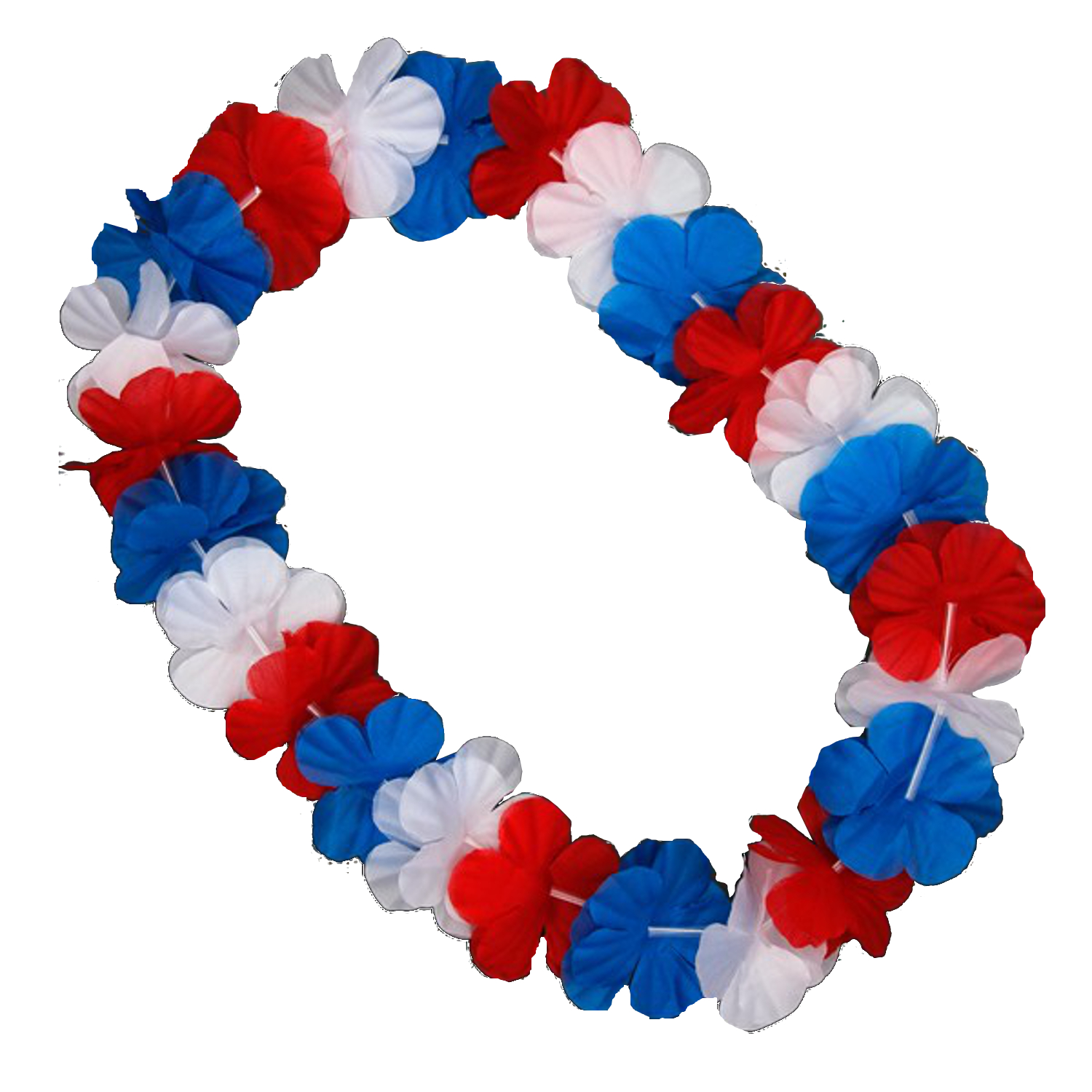 Hawaiian flower lei necklace red white and blue magic matts hawaiian flower lei necklace red white and blue izmirmasajfo