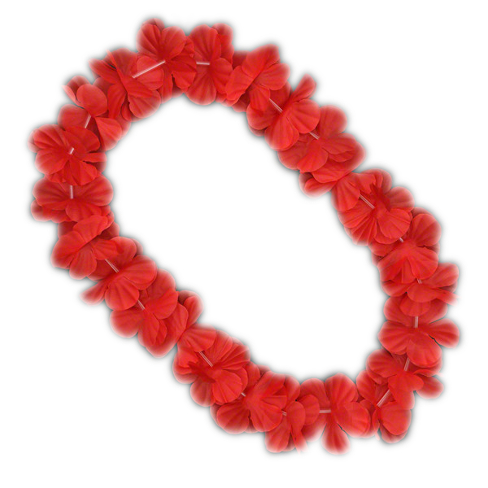 Hawaiian Flower Lei Necklace Red All Products