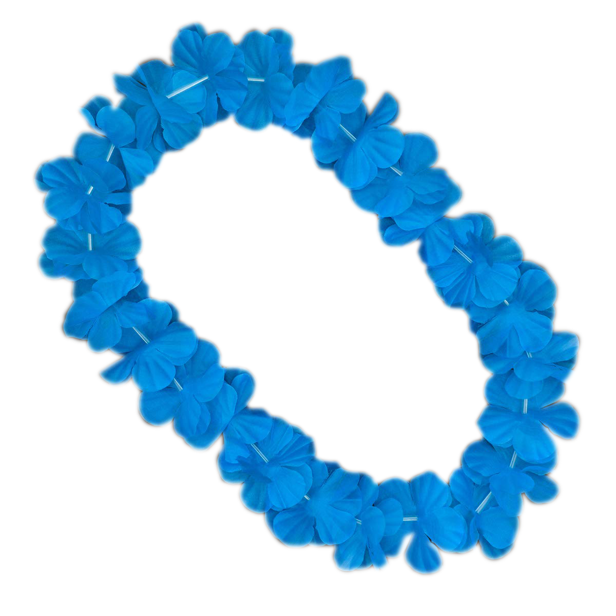 Hawaiian Flower Lei Necklace Blue All Products