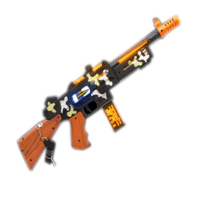 LED Double Grip Camo Toy Tommy Gun Light Up Toy Guns