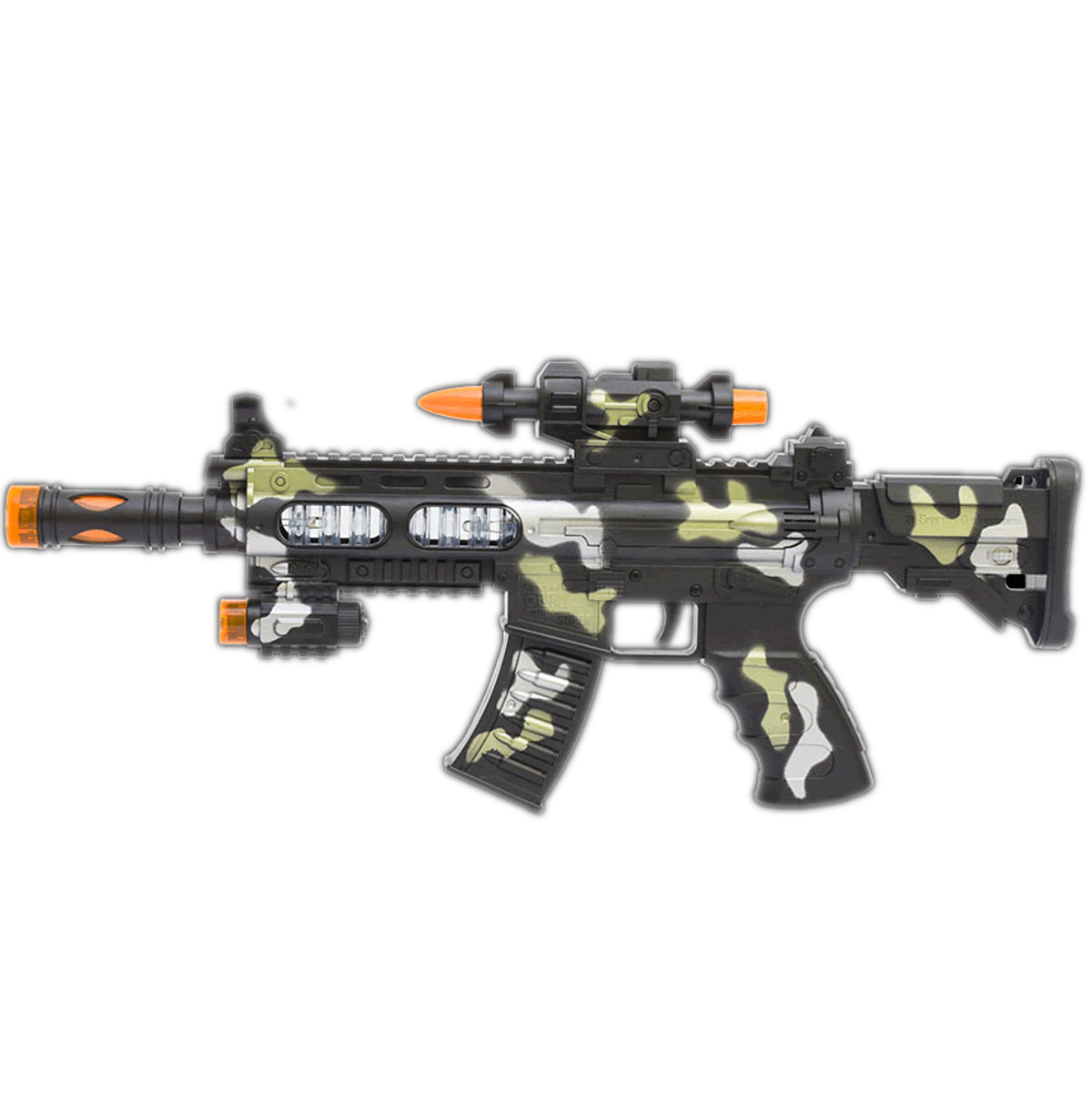 LED Camo Toy Machine Gun with Movement and Sound All Products
