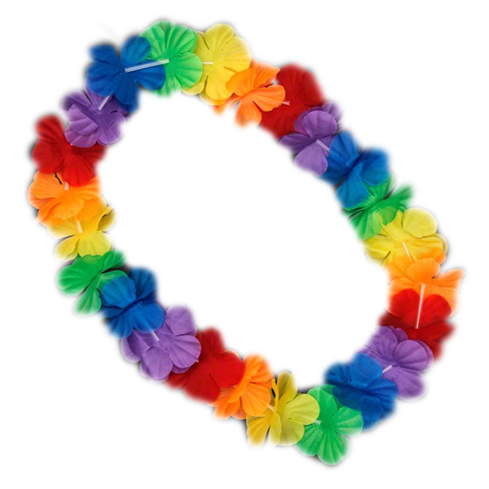 Hawaiian Flower Lei Necklace Rainbow All Products