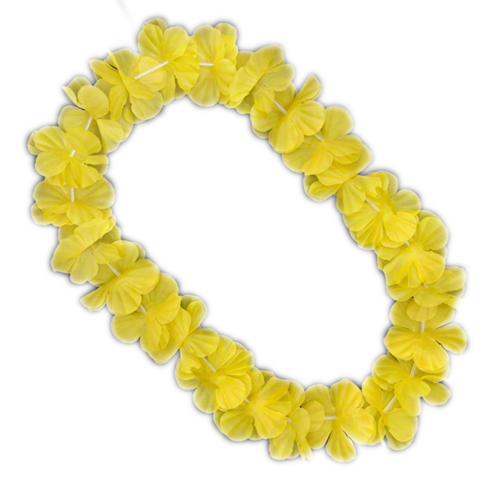 Hawaiian Flower Lei Necklace Yellow All Products