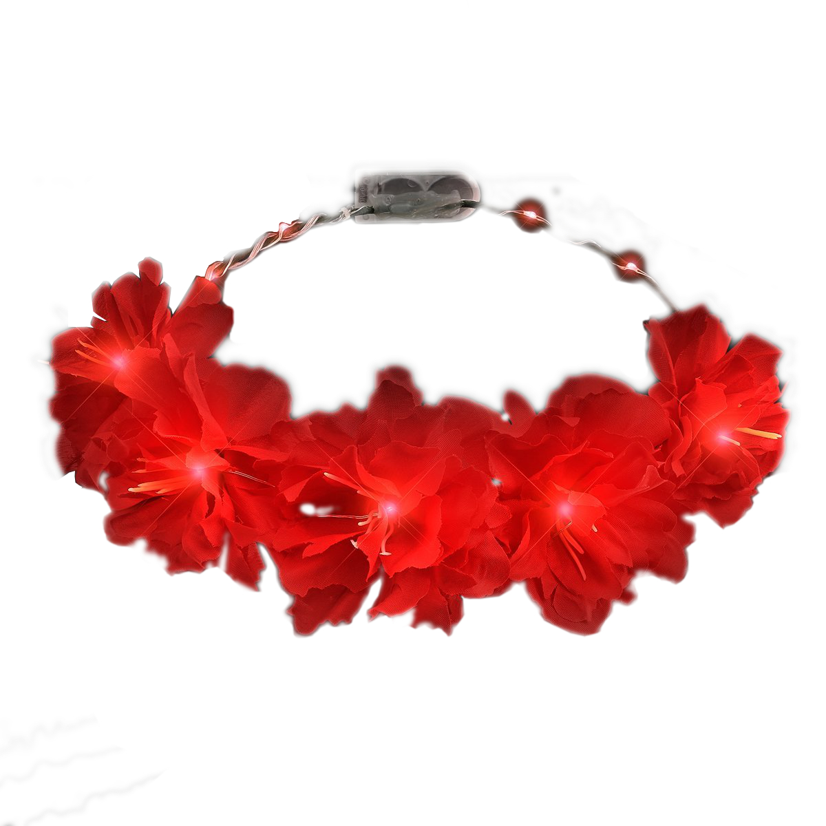 Red Kiss Fairy Flower LED Headband 4th of July