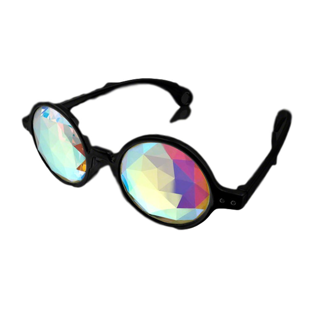 Black Frame Far Out Kaleidoscope Diamond Lense Glasses All Products