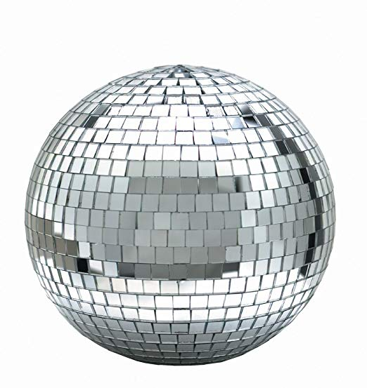 8 Inch Disco Mirror Ball Set with White LED Spotlight and Motor All Products