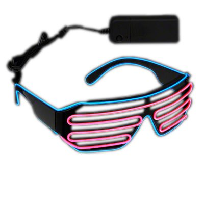 Electro Luminescent Pink and Blue Shutter Shades All Products