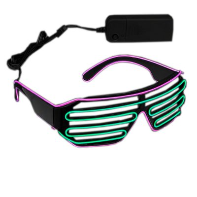Electro Luminescent Green and Pink Shutter Shades All Products
