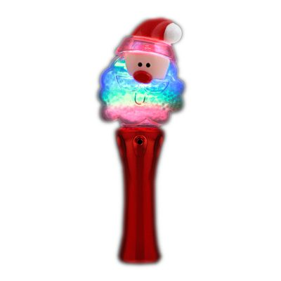 Santa Clause Wand with Snowball Spinning Lights Christmas Light Up Wand Christmas Light Up Wands