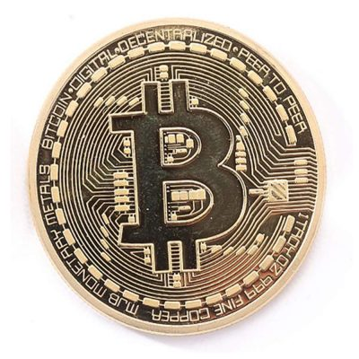 Gold Plated Collectible Bitcoin Coin Physical Art Collection Gift All Products