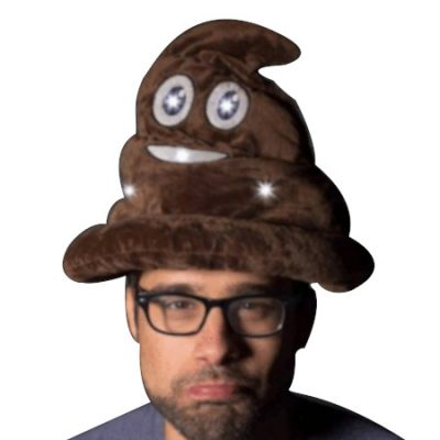 LED Poop Head Swirl Hat Brown Brown