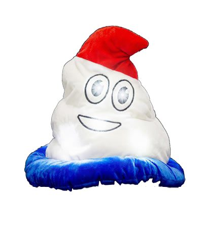 LED Light Up Patriotic Poop Swirl Hat Red White and Blue Colors
