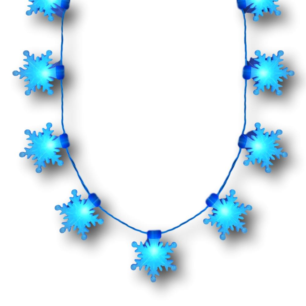 LED Big Blue Snowflakes String Lights Necklace All Products