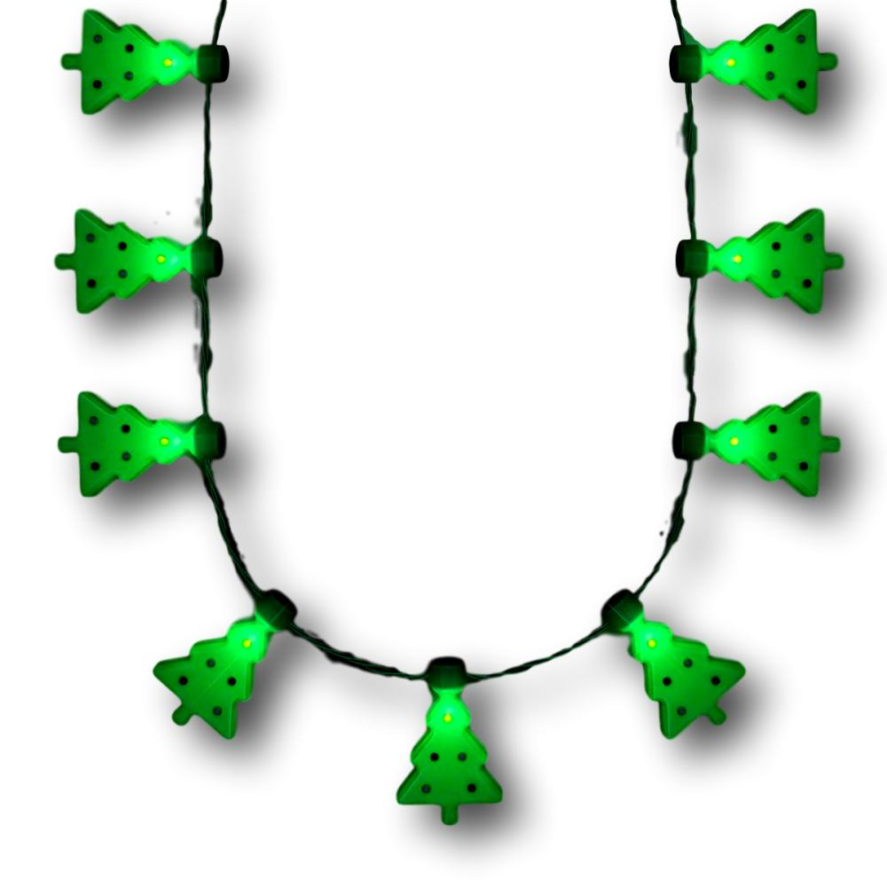 Merriest Little Christmas Tree Flashing Holiday Lights Necklace All Products