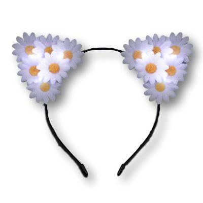 LED Daisy Flowers Cat Animal Ears Headband All Products