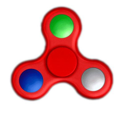 Red Spin Activated LED Light Up EDC Fidget Spinner All Products