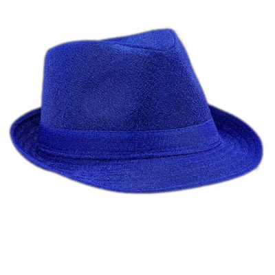 Soft Blue Fabric Fedora Non Light Up All Products
