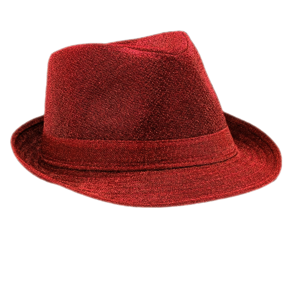 Soft Red Fabric Fedora Non Light Up All Products