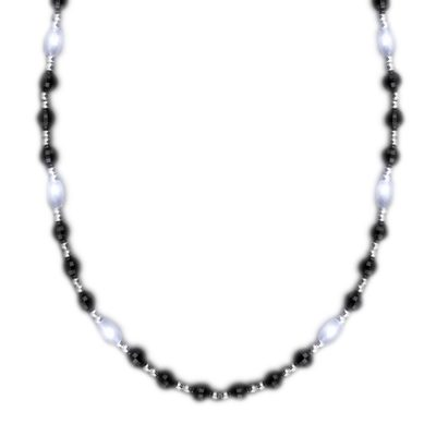 Classy LED Fancy Beads Black White and Silver Necklace All Products