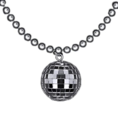 Disco Ball Charm Necklace On Silver Beads All Products