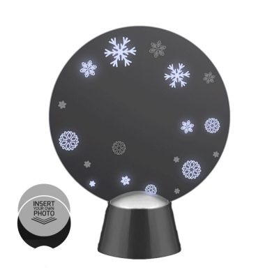 Animated Snowflake Winter Wonderland Picture Frame Light Up Christmas Decoration Silver