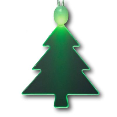 Green Light Up Christmas Tree Charm Pendant LED Necklace All Products