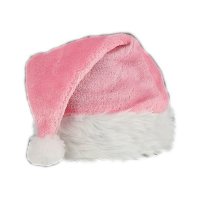 Pink Stylish Fluffy Fur Santa Christmas Plush Hat All Products
