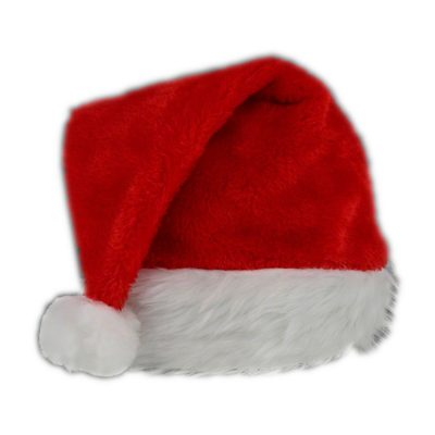 Red Stylish Fluffy Fur Santa Christmas Plush Hat All Products