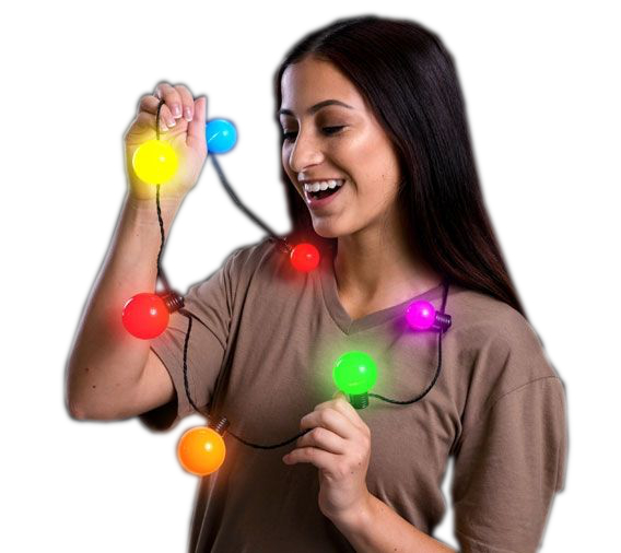 Multicolored Light up Big Ball Bulb Necklace All Products