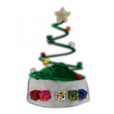 Silly Springy Costume Party Christmas Tree Plush Santa Hat All Products