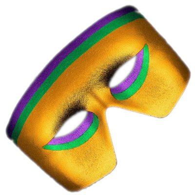 Masquerade Purple, Green, Gold Unlit  Metallic Mask Mardi Gras All Products
