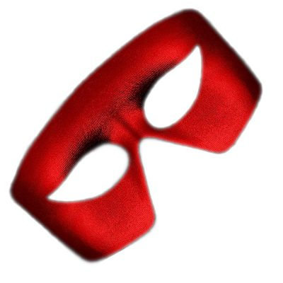 Masquerade Red Unlit Metallic Mask Mardi Gras All Products