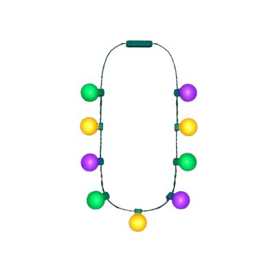 Large Light Party Globes Mardi Gras Parade Light Up Crewe Necklace for Fat Tuesday All Products