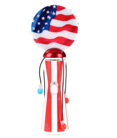 Light UP Novelties USA Flag Patriotic Spinning Ball Wand for the 4th of July Colors
