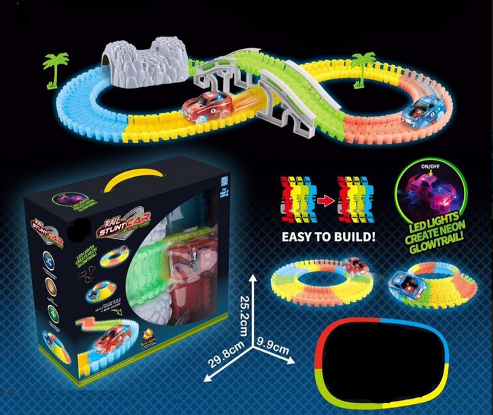 Glow In The Dark Racetrack With Two Multicolor Led Racecars Magic How To Build Hd Matts Brilliant Blinkys