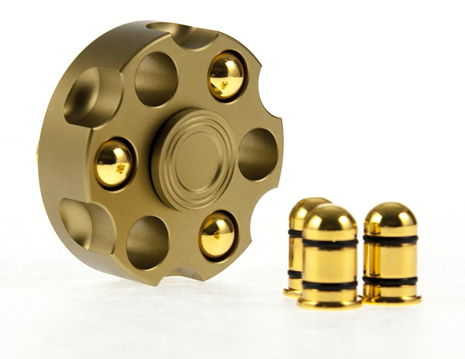 Golden Bullet Six Shooter EDC Metal Fidget Spinner All Products