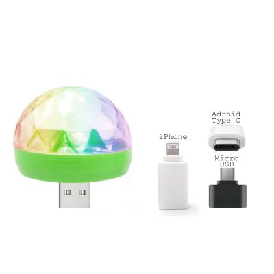 Sound Activated Mobile Disco Ball Portable Party DJ USB and Iphone Decoration for Parties All Products
