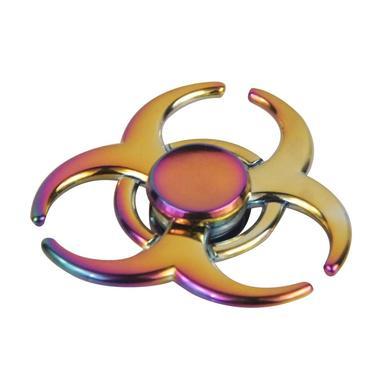 Rainbow Chameleon Biohazard Metal EDC Fidget Spinner All Products